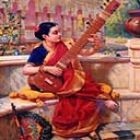 Lady with Sitar