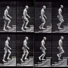 Ascending Stairs, Eadweard Muybridge