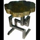 table en bois tribal