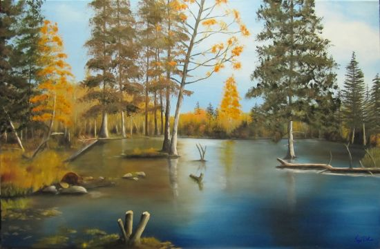 Painting of a Beaver Pond